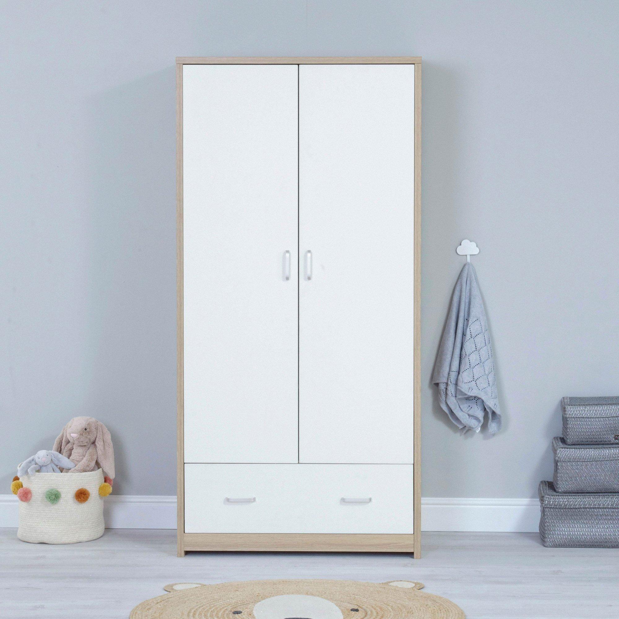 Image of Luno Veni White Oak Wardrobe