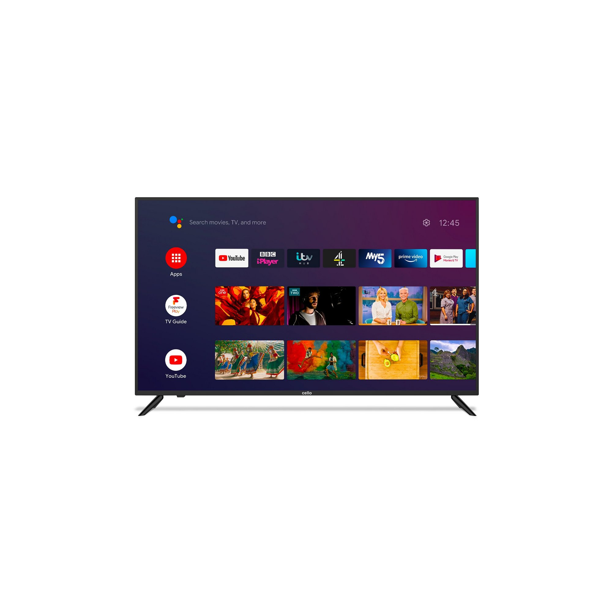 Cello 50 Inch C5020G4K 4K UHD Smart Android TV with Google Assist...