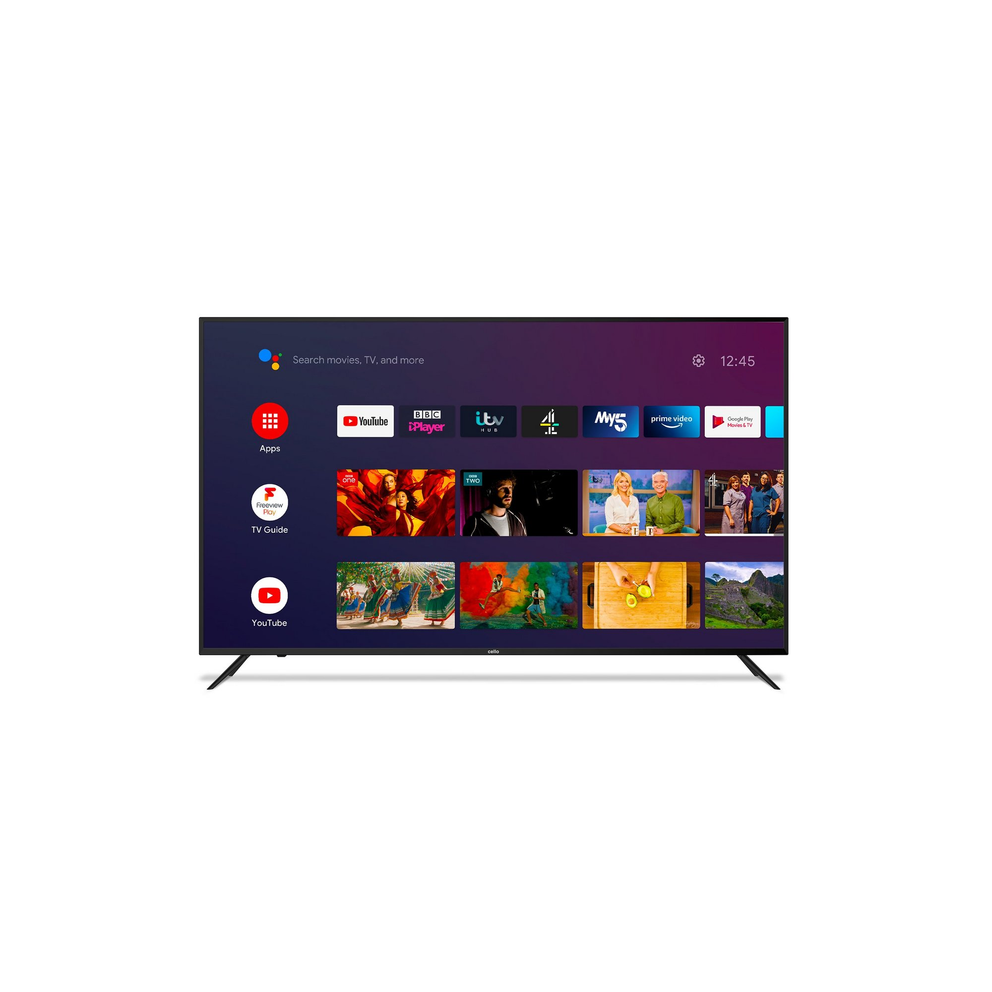 Cello 65 Inch C6520G4K 4K UHD Smart Android TV with Google Assist...
