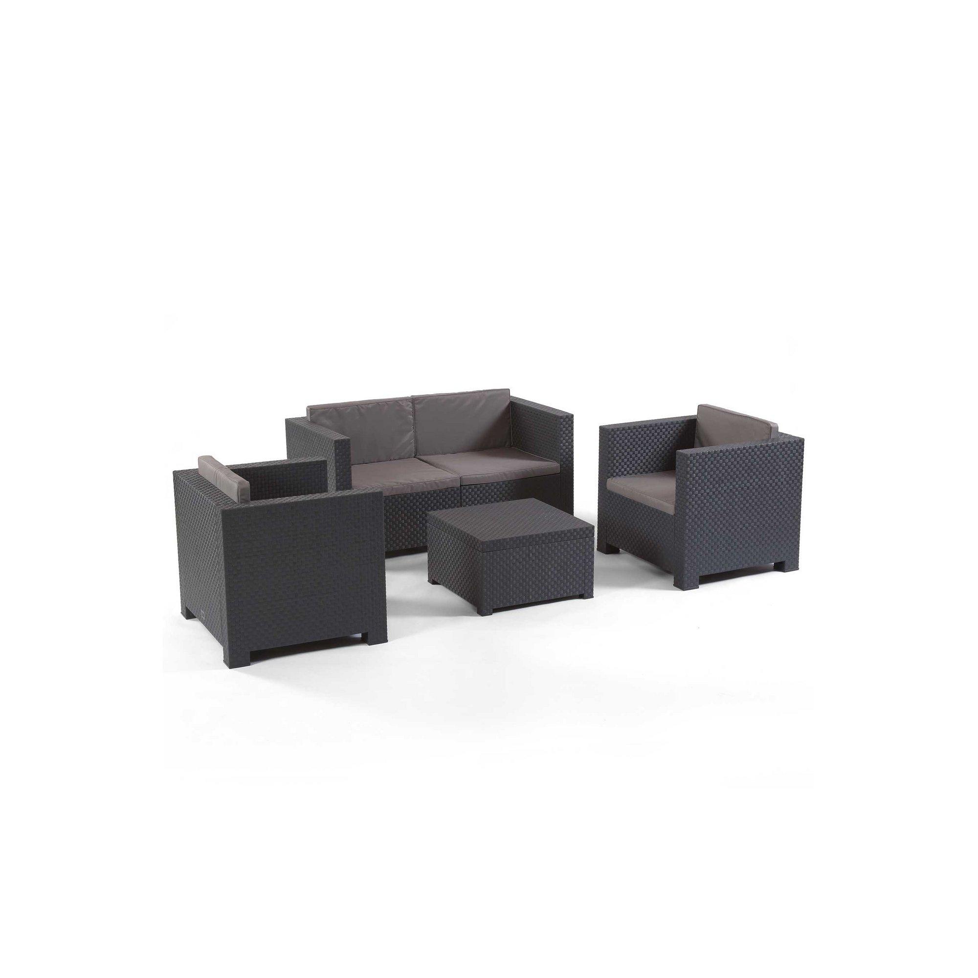 Image of 4-Piece Phoenix Anthracite Sofa Set