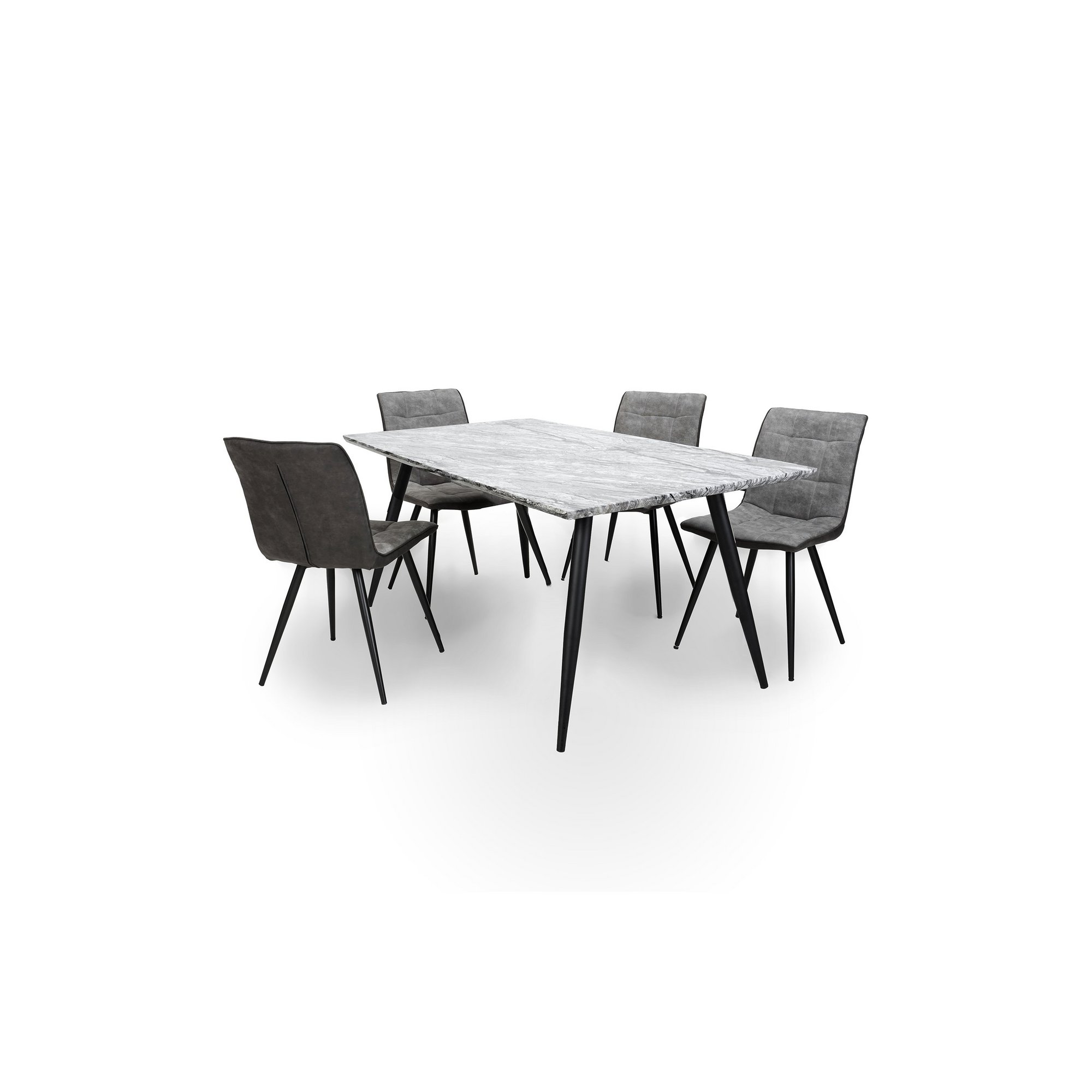 Image of Arden Marble Effect 5 Piece Dining Set