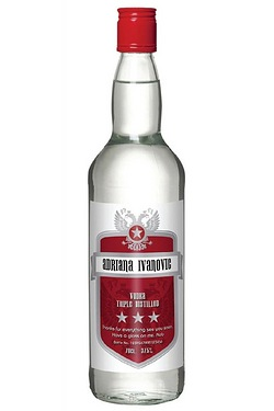 Personalised Vodka, Red Shield Label