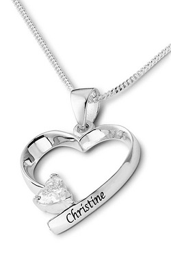 Personalised Heart Shaped Pendant
