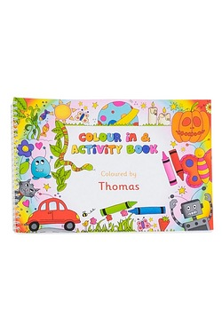 Personalised - A4 Colour In and Activity Book