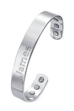 Personalised Mens Magnetic Therapy Bangle