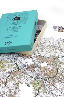 Personalised Landranger Map Jigsaw Puzzles