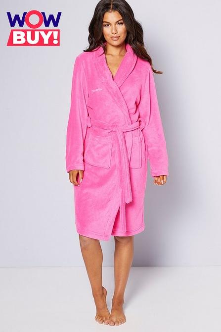 Embroidered Personalised Ladies Supersoft Robe Studio