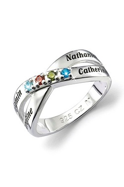 Personalised Family Birthstone Ring