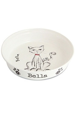 Personalised Scrabble Cat Bowl