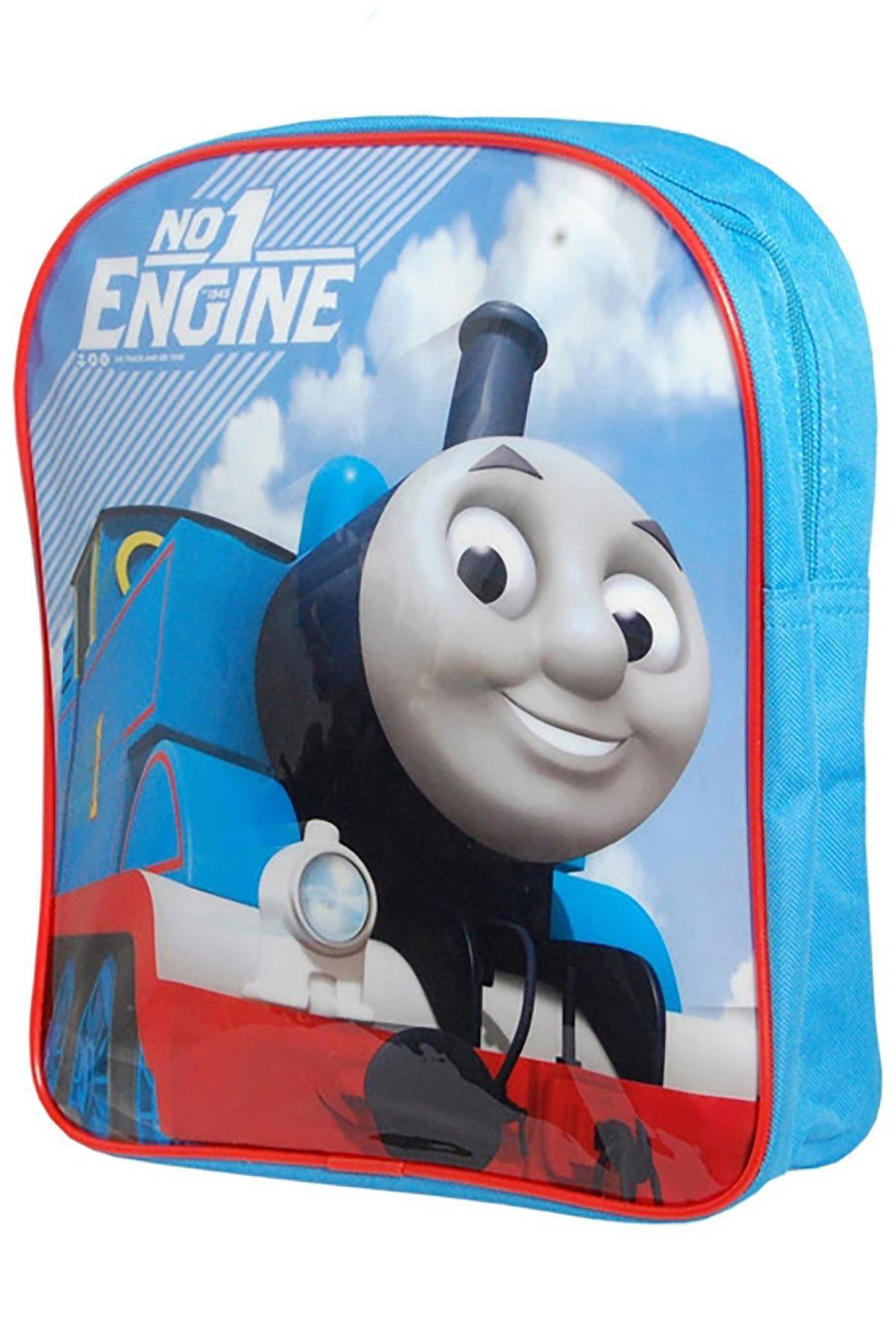 Personalised Backpack//Rucksack//School Bag Thomas Tank Style Design Pink//Blue//Red