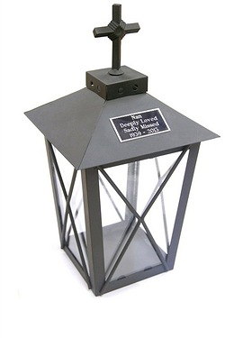 Personalised - Metal Graveside Lantern With Flameless Candle
