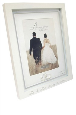Personalised - Amore Frame With Crystal Rings