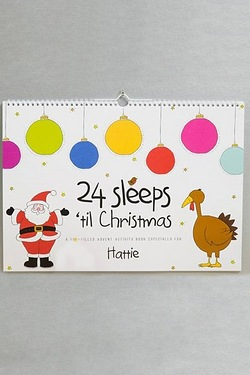 Personalised A3 24 Sleeps til Christmas