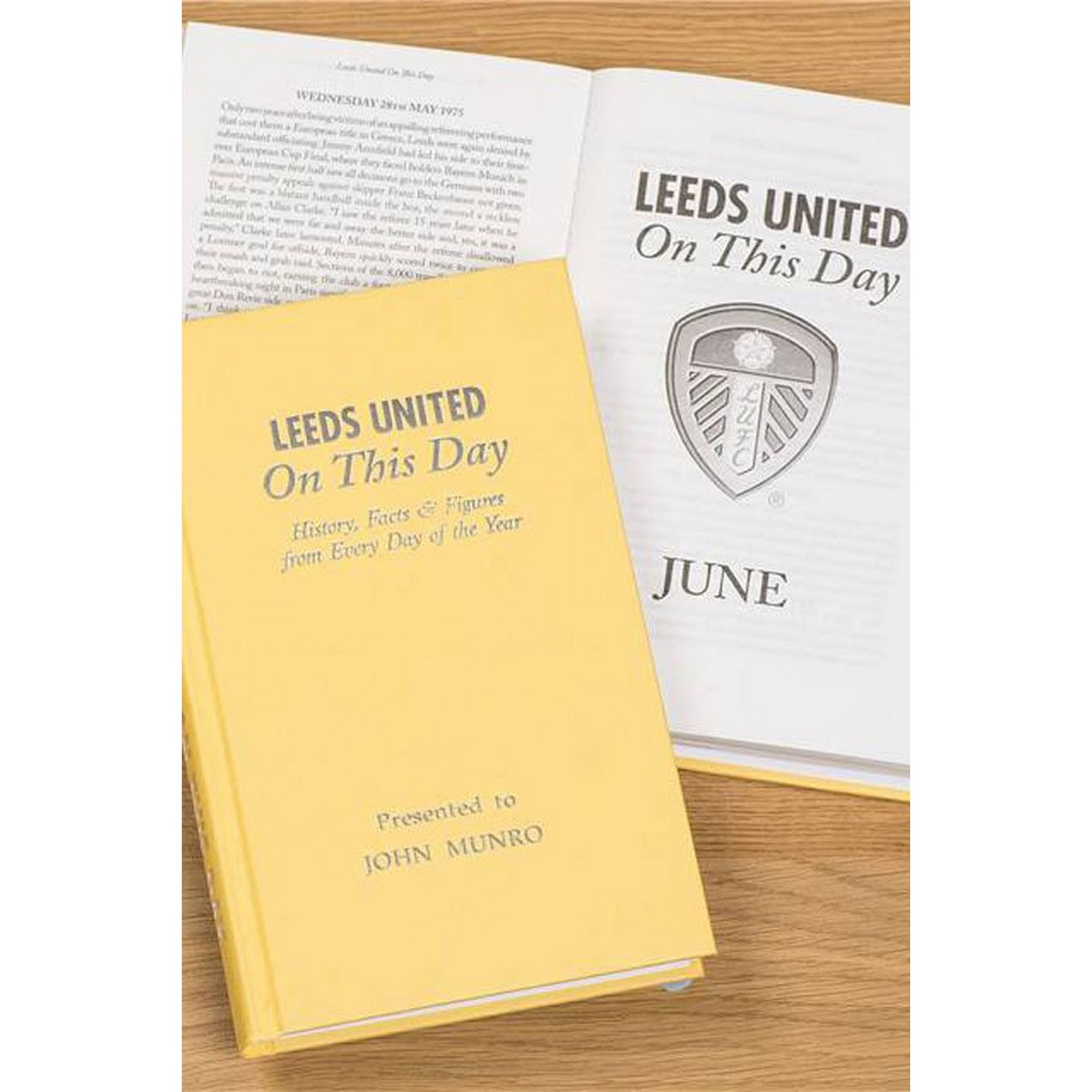 Image of Personalised Leeds FC On This Day Book