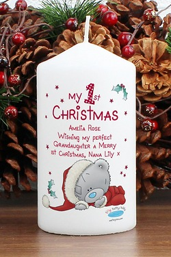 Personalised - Tatty Teddy My 1st Xmas Candle