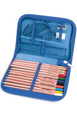 Personalised Pencils With Zip Around Pencil Case