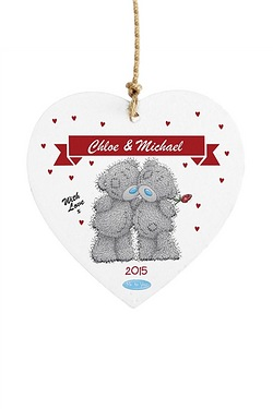 Personalised Me to You Couple Wooden Heart