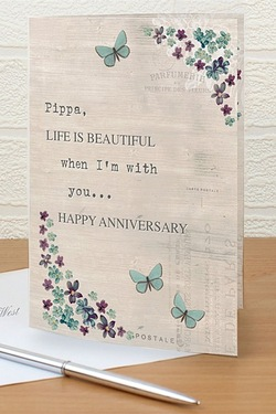 Personalised Forget Me Knot Card
