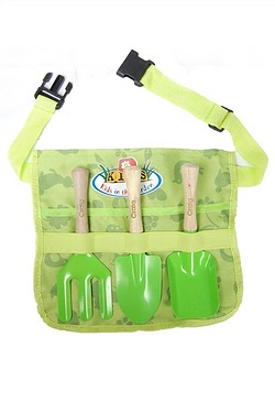 Personalised Kids Gardening Tool Belt With Tools