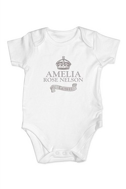 Personalised - Royal Crown Baby Vest
