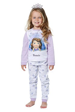 Girls Personalised Sofia The First Pyjamas
