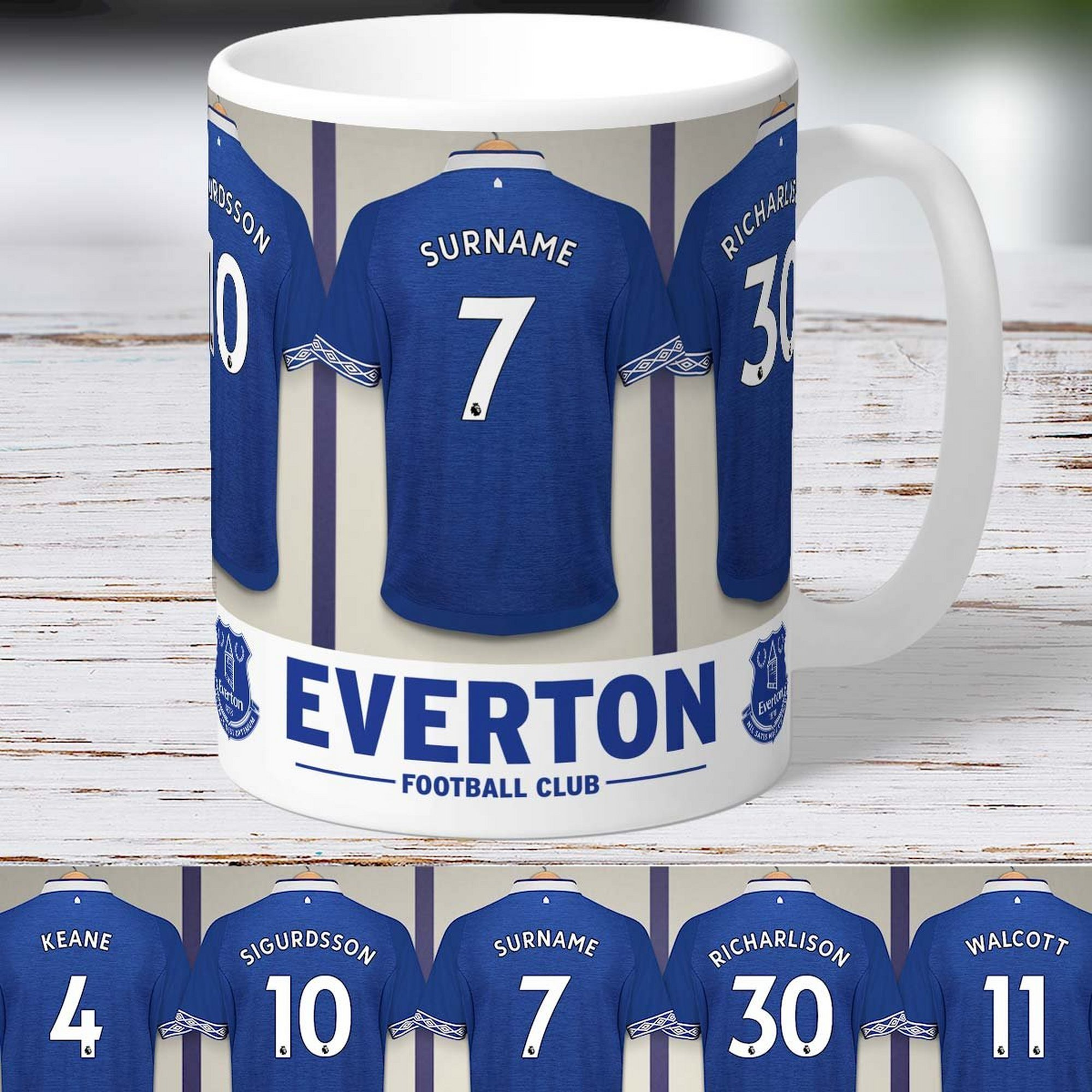 Image of Personalised Everton FC Dressing Room Mug