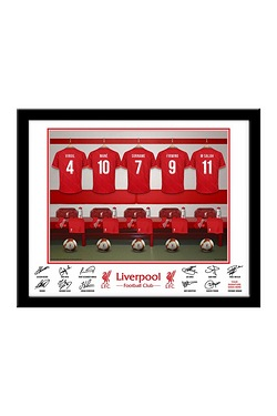 Personalised Liverpool Dressing Room Print - Framed