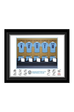 Personalised Manchester City Dressing Room Print - Framed