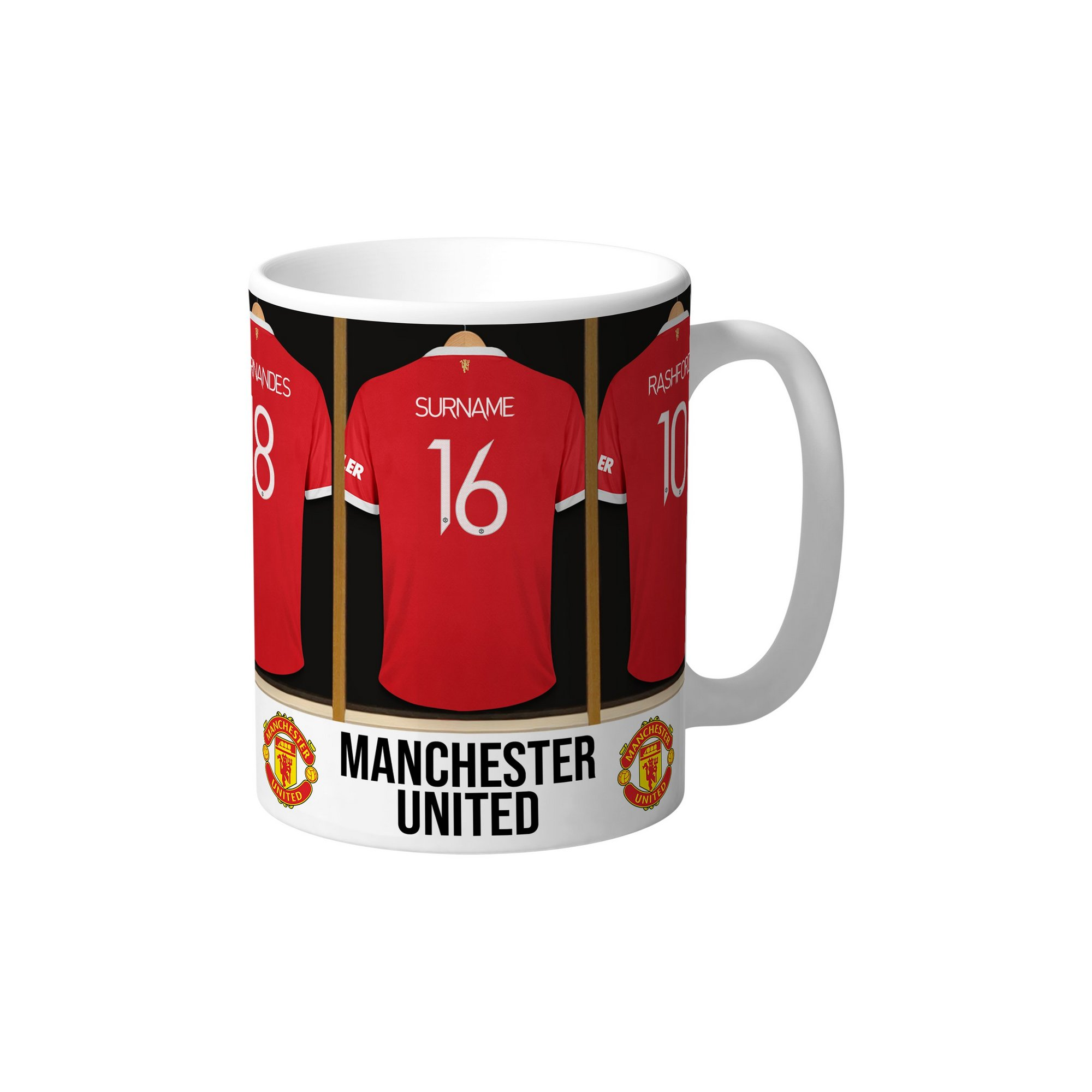 Image of Personalised Manchester United Dressing Room Mug