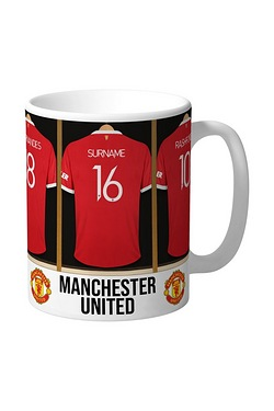 Personalised Manchester United Dressing Room Mug
