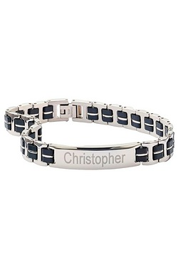 Personalised Gents Stainless Steel ID Bracelet