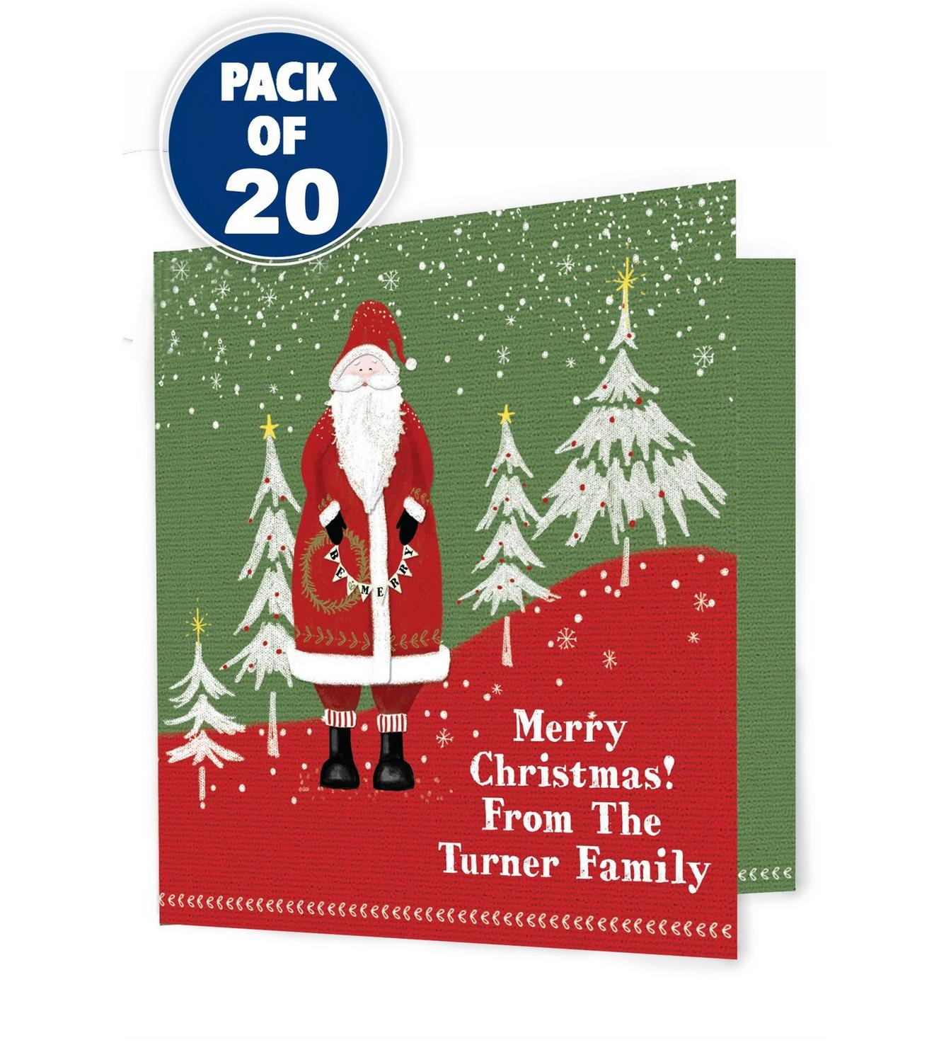 Image For Father Christmas Pack Of 20 Christmas Cards From