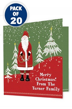 Father Christmas Pack of 20 Christmas Cards