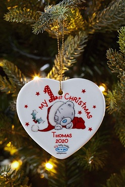 me to you 1st christmas ceramic heart decoration
