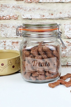 Retro Label Pet Treats Canister