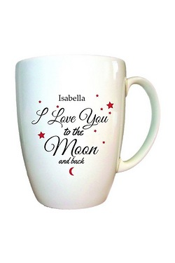 Personalised To The Moon and Back Conical Mug