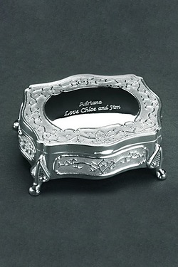 Personalised Engraved Oblong Trinket Box