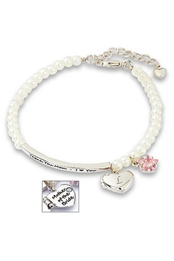 Personalised Mother Of The Groom Charm Bracelet - Heart & Star