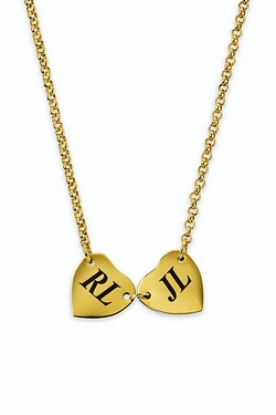 Personalised Two Heart Side By Side Necklace