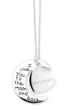 Personalised Love You To The Moon And Back Pendant