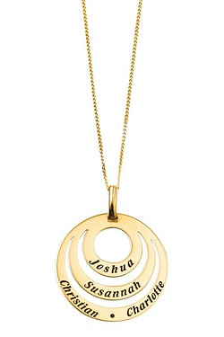 Personalised 9ct Gold Circle Pendant