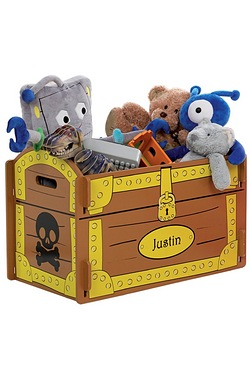 Personalised Pirate Toy Box