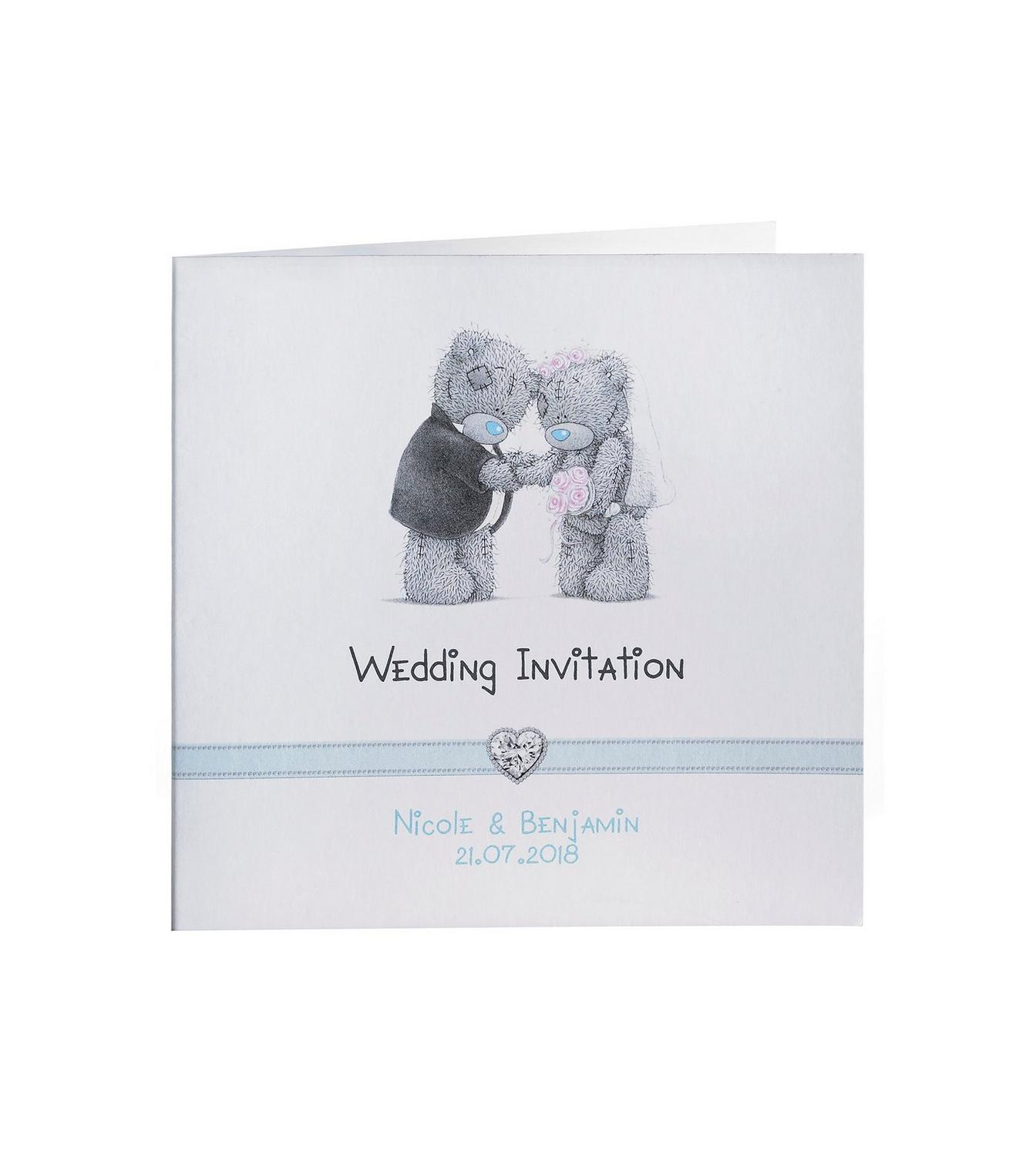 Personalised Me to You Wedding Invitations | Studio