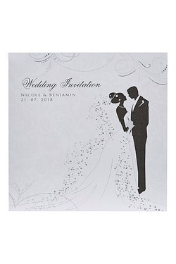 Personalised Silhouette Evening Invitations