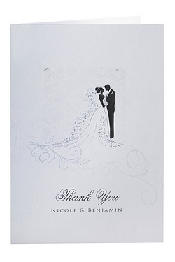 Personalised Silhouette Thank You Cards
