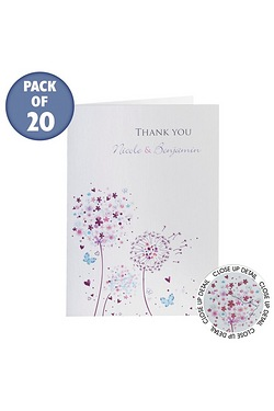 Personalised Butterflies Thank You Cards