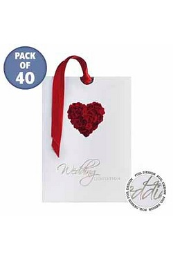 Personalised Rose Heart Evening Invitations