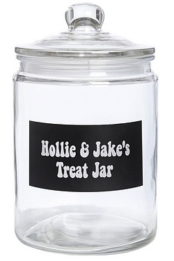Personalised Glass Canister 1/2 Gallon