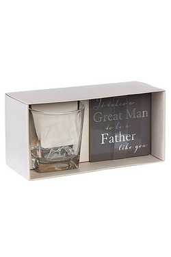 Personalised Whisky Glass/Coaster Set - Father of The Bride