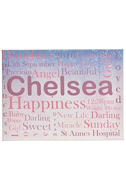 Personalised Child Canvas